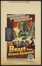 The Beast from 20,000 Fathoms - 11 x 17 Movie Poster - Style G