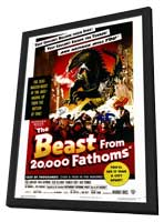 The Beast from 20,000 Fathoms - 11 x 17 Movie Poster - Style A - in Deluxe Wood Frame