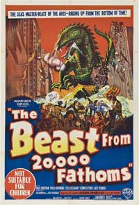 The Beast from 20,000 Fathoms - 11 x 17 Movie Poster - Australian Style A