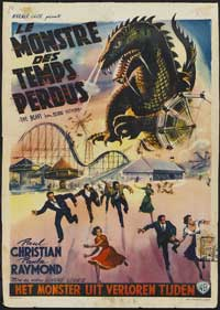 The Beast from 20,000 Fathoms - 11 x 17 Movie Poster - Belgian Style A
