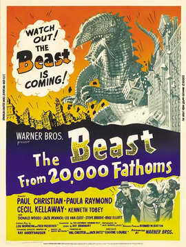 The Beast from 20,000 Fathoms - 11 x 17 Movie Poster - Style D