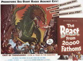 The Beast from 20,000 Fathoms - 27 x 40 Movie Poster - Style C