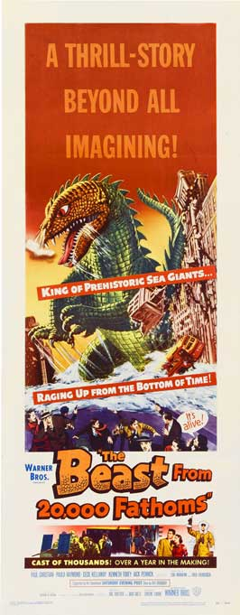 The Beast from 20,000 Fathoms - 14 x 36 Movie Poster - Insert Style A
