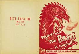 The Beast from 20,000 Fathoms - 11 x 14 Movie Poster - Style C