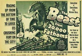 The Beast from 20,000 Fathoms - 22 x 28 Movie Poster - Half Sheet Style A