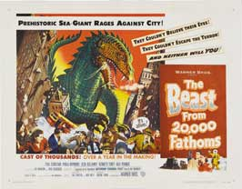 The Beast from 20,000 Fathoms - 22 x 28 Movie Poster - Half Sheet Style B