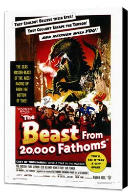 The Beast from 20,000 Fathoms - 27 x 40 Movie Poster - Style A - Museum Wrapped Canvas