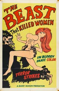 The Beast That Killed Women - 27 x 40 Movie Poster - Style A
