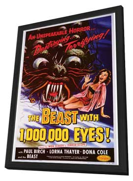 The Beast With 1,000,000 Eyes - 27 x 40 Movie Poster - Style A - in Deluxe Wood Frame