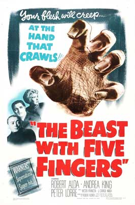The Beast With Five Fingers - 11 x 17 Movie Poster - Style A