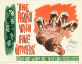 The Beast With Five Fingers - 11 x 14 Movie Poster - Style A