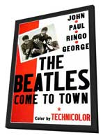 The Beatles Come To Town - 11 x 17 Movie Poster - Style A - in Deluxe Wood Frame