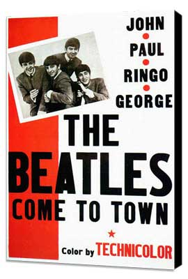 The Beatles Come To Town - 11 x 17 Movie Poster - Style A - Museum Wrapped Canvas