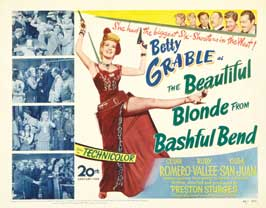 The Beautiful Blonde from Bashful Bend - 22 x 28 Movie Poster - Half Sheet Style A