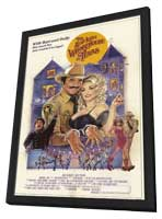 The Best Little Whorehouse in Texas - 11 x 17 Movie Poster - Style B - in Deluxe Wood Frame