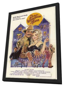 The Best Little Whorehouse in Texas - 27 x 40 Movie Poster - Style B - in Deluxe Wood Frame