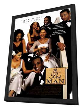 The Best Man - 27 x 40 Movie Poster - Style B - in Deluxe Wood Frame