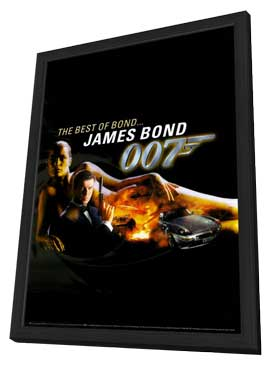 The Best of James Bond - 27 x 40 Movie Poster - Style A - in Deluxe Wood Frame