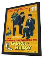 The Best of Laurel and Hardy - 11 x 17 Movie Poster - Argentine Style A - in Deluxe Wood Frame