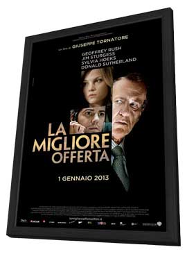 The Best Offer - 11 x 17 Movie Poster - Italian Style A - in Deluxe Wood Frame