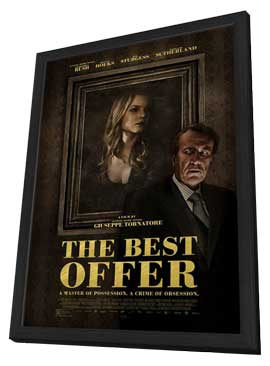 The Best Offer - 11 x 17 Movie Poster - Style A - in Deluxe Wood Frame