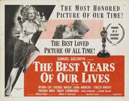 The Best Years of Our Lives - 22 x 28 Movie Poster - Half Sheet Style B
