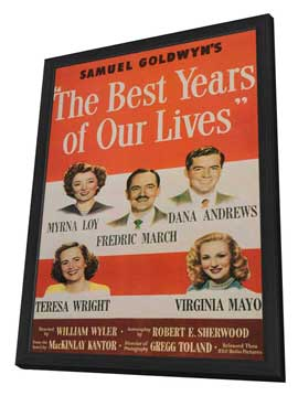 The Best Years of Our Lives - 11 x 17 Movie Poster - Style B - in Deluxe Wood Frame