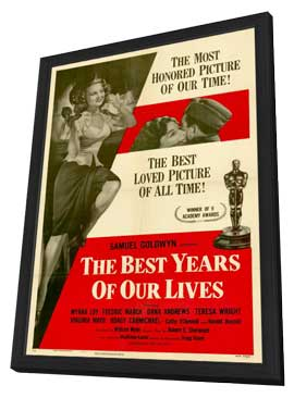 The Best Years of Our Lives - 27 x 40 Movie Poster - Style A - in Deluxe Wood Frame