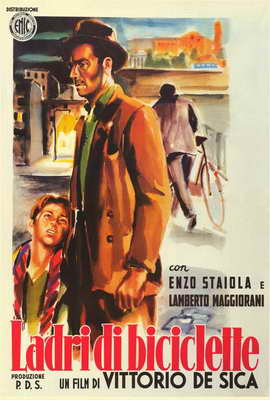 The Bicycle Thief - 27 x 40 Movie Poster - Italian Style A