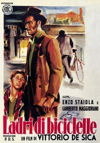 The Bicycle Thief - 11 x 17 Movie Poster - Italian Style B