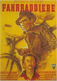 The Bicycle Thief - 11 x 17 Movie Poster - German Style A