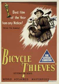 The Bicycle Thief - 11 x 17 Movie Poster - Australian Style A