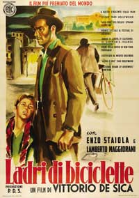 The Bicycle Thief - 11 x 17 Movie Poster - Italian Style C