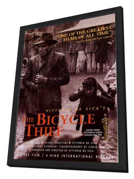 The Bicycle Thief - 11 x 17 Movie Poster - Style A - in Deluxe Wood Frame