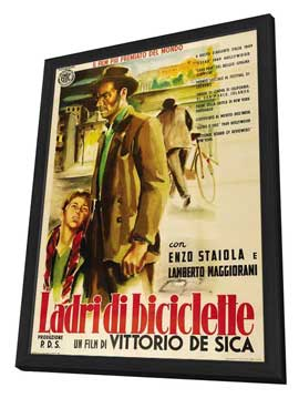 The Bicycle Thief - 11 x 17 Movie Poster - Italian Style C - in Deluxe Wood Frame