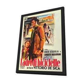 The Bicycle Thief - 27 x 40 Movie Poster - Italian Style A - in Deluxe Wood Frame