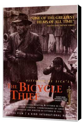 The Bicycle Thief - 11 x 17 Movie Poster - Style A - Museum Wrapped Canvas