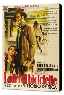 The Bicycle Thief - 11 x 17 Movie Poster - Italian Style C - Museum Wrapped Canvas
