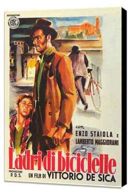 The Bicycle Thief - 27 x 40 Movie Poster - Italian Style A - Museum Wrapped Canvas