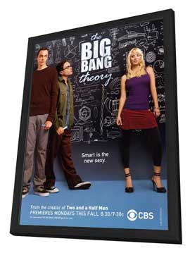 The Big Bang Theory (TV) - 27 x 40 TV Poster - Style C - in Deluxe Wood Frame
