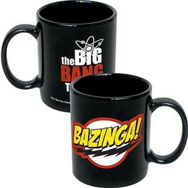 The Big Bang Theory (TV) - Bazinga! Logo Black Coffee Mug