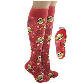 The Big Bang Theory (TV) - Bazinga! Knee High Red Socks