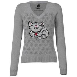 The Big Bang Theory (TV) - Pixel Kitty Knit Junior's Sweatshirt