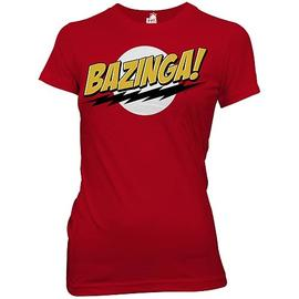 The Big Bang Theory (TV) - Bazinga! Red Juniors T-Shirt