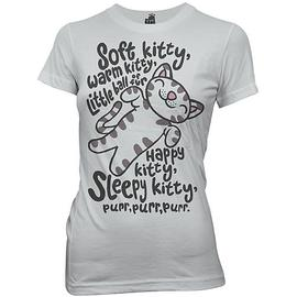 The Big Bang Theory (TV) - Soft Kitty Gray Juniors T-Shirt