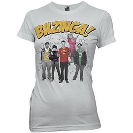 The Big Bang Theory (TV) - Bazinga Group Gray Juniors T-Shirt