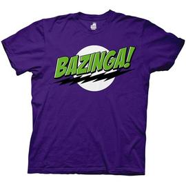 The Big Bang Theory (TV) - Bazinga! Purple/Green T-Shirt