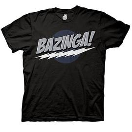 The Big Bang Theory (TV) - Bazinga! Black T-Shirt
