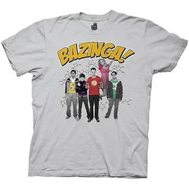 The Big Bang Theory (TV) - Bazinga Group Gray T-Shirt