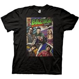 The Big Bang Theory (TV) - Bazinga Comic Cover Black T-Shirt